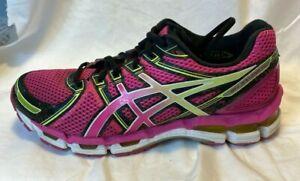 Asics GELKayano 19 Women Purple Running Walk Jogging Shoe Sneaker 11 43.5 T350Q