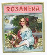 Rosanera, original outer cigar box label, woman