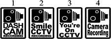 2 x  CCTV Dash Cam camera Car Window Sticker - Van - Boat - Bike Body Panel 3