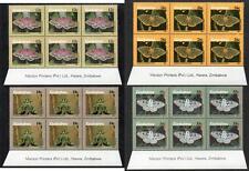 ZIMBABWE MNH 1986 Moths of Zimbabwe Imprint Blocks of 6
