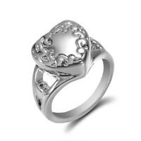 New Fashion Heart Cremation Ash Urn Memorial Keepsake Ring Jewelry Gift Size 6-9