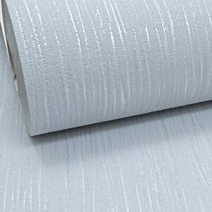 Light Grey Crystal Metallic Silver Glitter Textured Vinyl Plain Thick Wallpaper