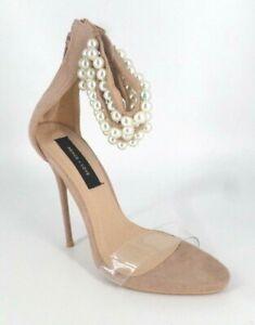 peace + love nude pearl strap heels Size UK 4 EU 37 NH086 FF 08