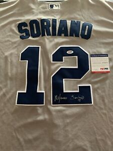 Alfonso Soriano Signed New York Yankees Jersey PSA/DNA Size L