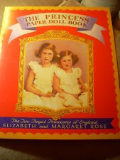 PRINCESS PAPER DOLL BOOK Queen Elizabeth UNCUT Shackman HIGHLY COLLECTIBLE NOS
