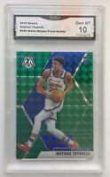 2019-20 Panini Prizm Matisse Thybulle Green Mosaic GMA 10 Rookie Card Gem Mint