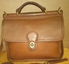 Vintage COACH Willis 9927 Brown Leather Shoulder Bag Made in Italy