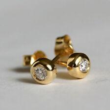 Or jaune 14 kt  boucle d'oreille Diamant avec garantie certificat