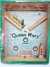 VINTAGE QUEEN MARY PUZZLE DEXTERITY PUZZLE GAME JOURNET & CO LONDON ENGLAND