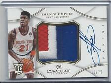 IMAN SHUMPERT 2012-13 IMMACULATE RPA JUMBO 3 COLOR PATCH AUTO RC #D 18/75