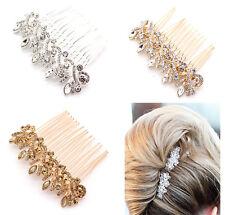 BRIDAL WEDDING CRYSTAL JEWEL DIAMANTE HAIR COMB CLIP SLIDE FASCINATOR HAIRPIECE
