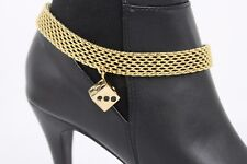 Women Gold Metal Chain Boot Bracelet Heel Shoe Anklet Dice Las Vegas Luck Charm