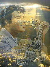 Full drill 5D Diamond Painting Elvis Presley Motorcycle Heaven Embroidery 4179T