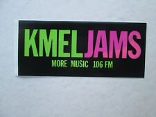 Vintage Bumper Sticker Kmel Jams More Music 106 Fm circa 1990 San Francisco Ca