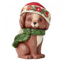 Jim Shore - Heartwood Creek - Christmas Puppy Mini Figurine