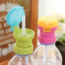 2 Colors Cup Lid Straw Spill-Proof Design Bottle Cover Baby Toddler Kids H1J7