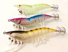3 jibioneras Pesca EGIN calamar choco jibia yo sepia squid jig glow zuri fishing