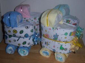 Mini Diaper Bassinet, Baby Shower Favor, Dinosaur, Sports, Circus