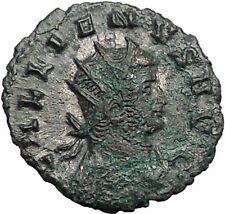 GALLIENUS Valerian I son 260AD Authentic Ancient Roman Coin Fortuna Luck i55904