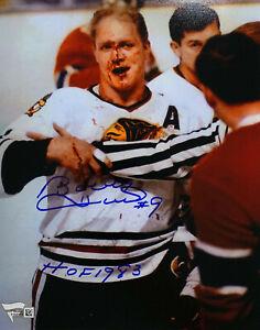 Chicago Blackhawks Bobby Hull Signed 8 x 10 Photo w/ HOF '83 - Fanatics Holo