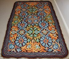 Large Persian Kashmir Handmade Wool Rug Carpet Runner,Room Floor Antique Decor