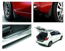 Genuine OEM Toyota Yaris  Hybrid Set Mud Flap/Trunk Boot Liner/Scuff Plate Pack