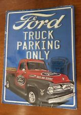 Ford Truck Parking Only F-100 Name Embossed Metal Sign Truck Pickup MANCAVE