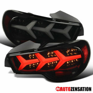 Fit 2013-2016 Scion FRS Subaru BRZ Black Smoke Tail Lights Sequential LED Signal