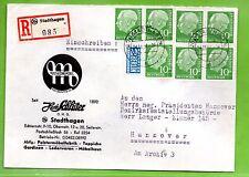 BUND, Michel 183 x 7, MEF, EBF von Stadthagen nach Hannover, AK-St (B18)