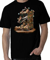 Cowboy Christmas Shirt, Cowboy Boots & Cowboy Hat with Christmas Lights, sm - 5X