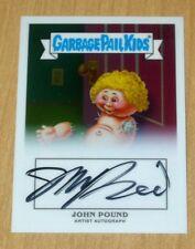 2013 Topps Garbage Pail Kids GPK CHROME OS1 John Pound artist autograph BOB 6b