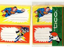SUPERMAN BATMAN 6 etichette adesive Tico school SIGILLATE