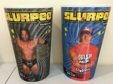 (2) NEW WWE 7/11 SLURPEE CUPS 2010 SUMMERSLAM Holographic Cena Triple H