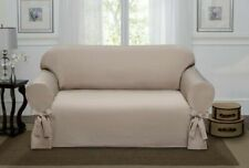 Madison Lucerne Loveseat Slipcover, Sand