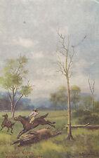 """Postcard Australian Series """"bringing in a Brumby"""" horse art series, unused"""