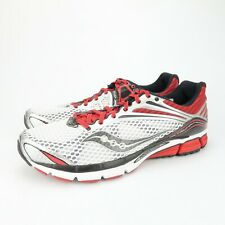 SAUCONY Triumph 11 Mens White Red Running Shoes Mens Size 15 M MINIMAL WEAR