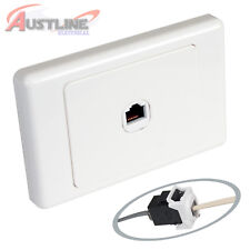 1Gang Datamaster® Wall Plate Cat3 RJ11 RJ12 Phone Telephone Coupler dw1C3ff