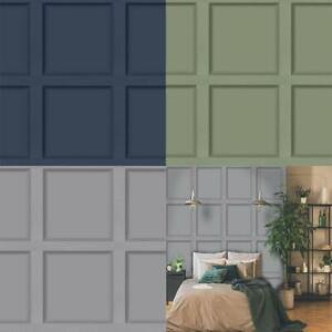 Holden Decor Modern Wood Panel 3D Effect Wallpaper 4 Colours