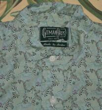 Mens GITMAN BROS Vintage Made To Order Mandarin Collar Green Popover Shirt M
