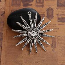 1x Grand Tibetan Silver vie donnant SOLEIL CELTIC Boho Charms Pendentifs 60 mm TSC33