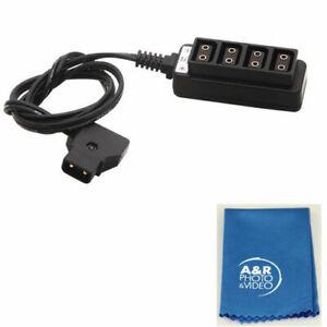 NEW Male D-Tap B Type Power Tap to 4Port Female D-Tap P-Tap Hub Adapter Splitter