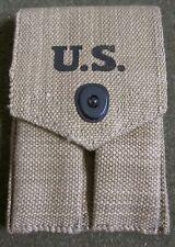 WWII US M1924 .45 PISTOL MAGAZINE AMMO BELT CARRY POUCH-OD#3