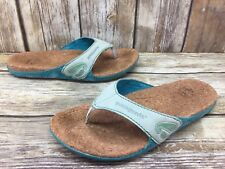 Patagonia Turquoise Leather Cork Flip Flops Women's sz 6