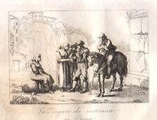 La zingara che indovina in Roma 1840 Pinelli bulino