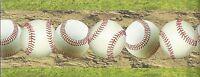 Baseball / Baseballs Across the Ball Field Peel & Stick Sports Border QA4W1695