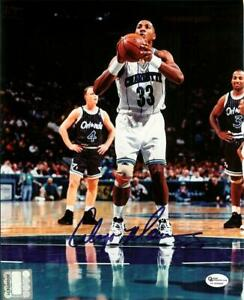 Alonzo Mourning Signed - Autographed Charlotte Hornets 8x10 inch Photo + COA