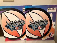 WNBA Basketball Cleveland Rockers School Folder Portfolio - Set of 2 - NEW!