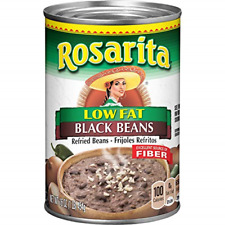 Rosarita Low Fat Refried Black Beans, 1 Pound Pack of 12