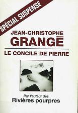 RARE EO JEAN-CHRISTOPHE GRANGÉ + DÉDICACE + JAQUETTE : LE CONCILE DE PIERRE