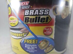 Pocket Hose Brass Bullet w/ Brass Connector 3/4'' Hose 50 Feet